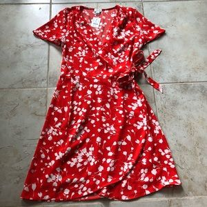 J. Crew Floral Wrap Dress 0